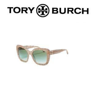 TORY BURCH Raffia 56mm Square Sunglasses